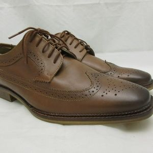 Redfoot Brown Leather Wingtip Oxford Brogue Shoes